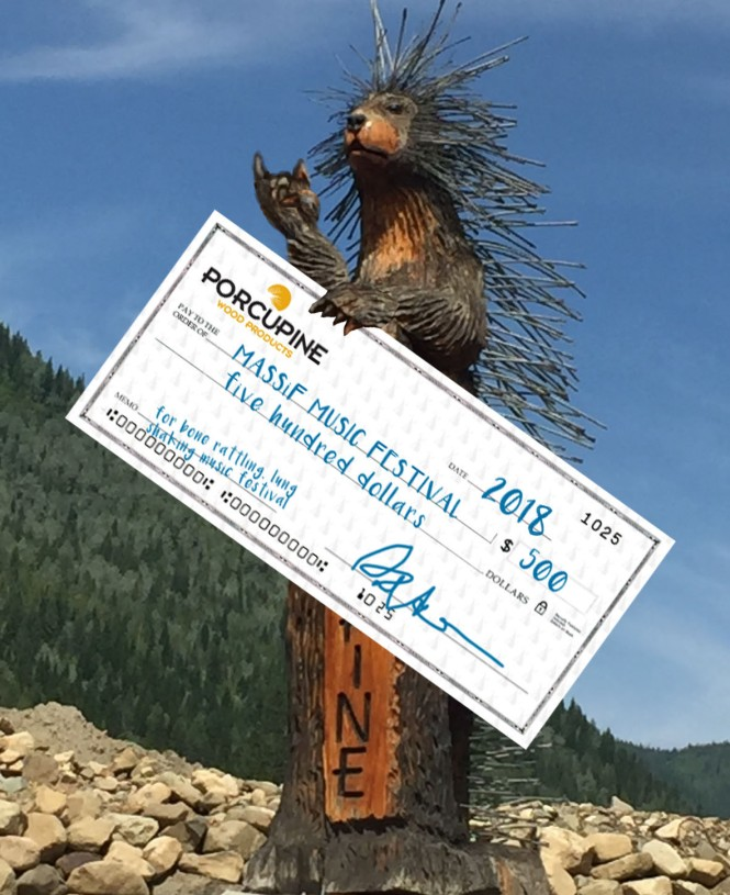 PorcupinewithCheque
